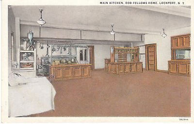 F5409 NY, Lockport Odd Fellows Home Kitchen Postcard