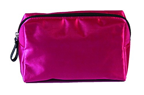 Caboodles Pixie Perfect Cosmetic Bag, Pink Satin, Small, 0.14 Pound