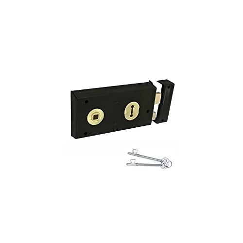yale locks p334 rim lock black finish 156 x 104 mm visi. Black Bedroom Furniture Sets. Home Design Ideas