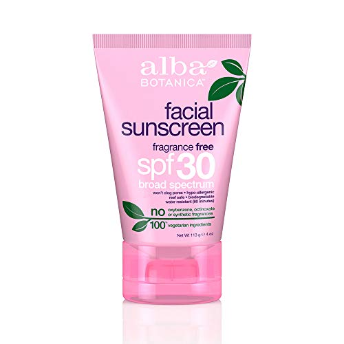Alba Botanica Fragrance Free Facial SPF 30 Sunscreen, 4 oz.