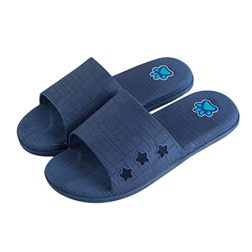 de Homme d'intérieur Dérapant Pantoufles Sandales Bleu Foncé Pantoufles Sandales Femmes Et Lattice Femmes Bain Glisser Et Anti d'été Amuster Pantoufles d'extérieur étage Plat Tz7wnEq