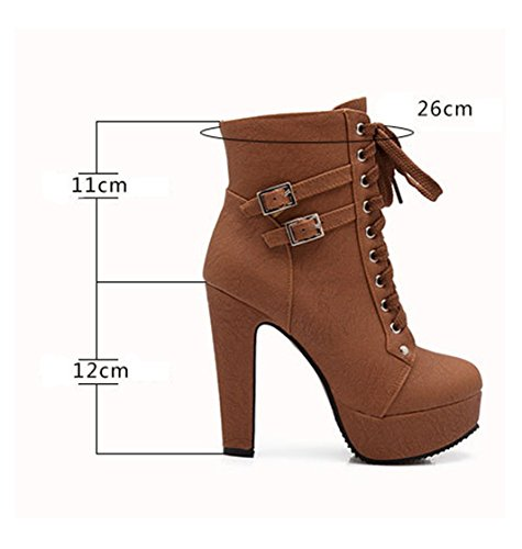 Femme Bottines Bottes Minetom Automne Boots Cheville Martin Hiver 1wCTOxqO