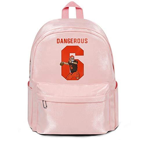 - LKM-Ykan Womens Girl Boys College Bookbag Fashion Nylon Packable Travel Daypack Backpack MVP-Dangerous-6- College Bookbag Pink