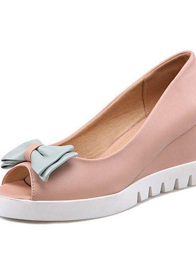 Semicuero eu42 pink blue Cuñas Zapatos 5 eu39 5 Cuña 5 uk8 Tacón us8 Casual Sandalias eu42 Rosa us10 Azul mujer cn43 5 cn43 uk6 Blanco de GGX Vestido cn39 uk8 pink us10 RzqwxpXaq
