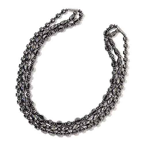 - Shop LC Delivering Joy Set of 3 Multilayered Strand Statement Chain Necklace Jewelry Gift for Women Hematite Silvertone 20