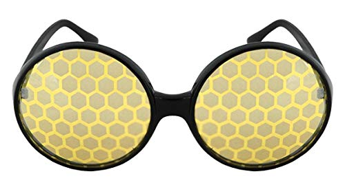 (Bug Costume Glasses Yellow For Adults Men and Women by)