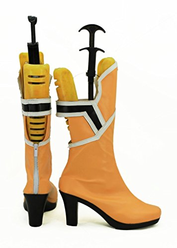Spada Arte Online Sao Yuuki Asuna Scarpe Cosplay Stivali Su Misura Arancione