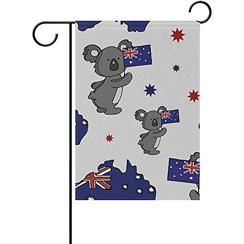 Yunnstrou Happy Australia Day Koala Double Sided Garden Flag Best for Party Yard and Home Outdoor Decor - 12x18 inches