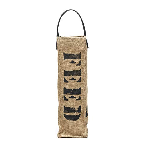 FEED Reusable Wine Tote Bag - Wine Bottle Gift Bag for Weddings, Party Favors, Travel & Picnics Available in 4 Unique Colors (Black) ()