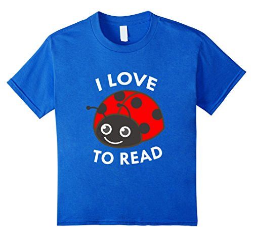 Kids I Love To Read Ladybug T-Shirt Book Lover Bookworm 1...