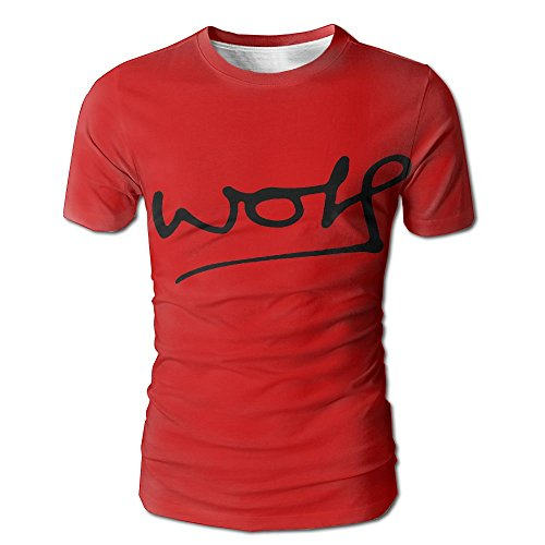 Price comparison product image WkOkYkWk Custom Wolf ie Raps Comfortable Short Sleeved Men T - Shirt