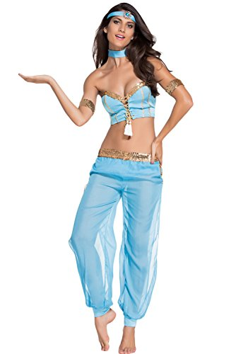 [Honeystore Women's Arabian Nights Sexy Belly Dancer Costume Sets] (Arabian Costumes For Men)