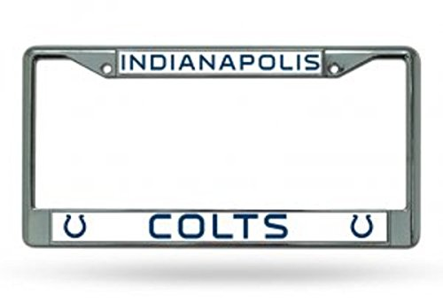 NFL Indianapolis Colts Chrome Licensed Plate -