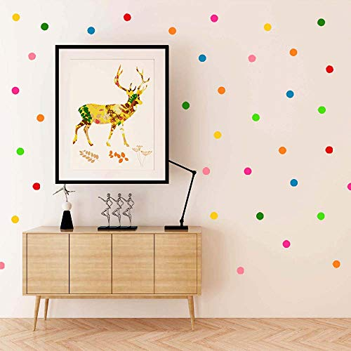 - Dot Wall Decals, H2MTOOL 360 PCS Round Circle Wall Stickers for Kids Room Decor (Multicolor, 360 pcs)