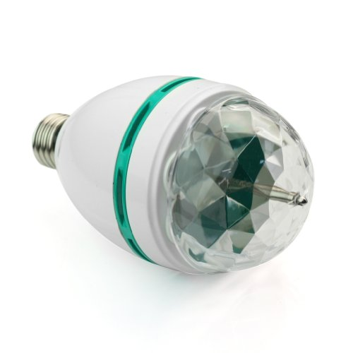 Colorful Rotating Rgb 3 Led Spot Light Bulb Lamp in US - 2
