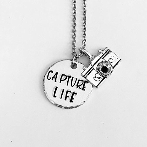 Photographer necklace - Capture Life - photography gifts - camera buffs