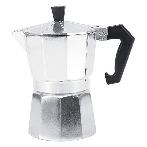 3/6/9/12 taza de cafetera italiana de moka en aluminio, disponible en cuatro tamaños para el hogar, la oficina, la…