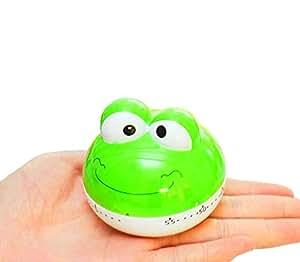 "Kangkang@ [Green Frog]2.6""cute Mechanical Movement Kitchen Timer/reminder-60 Minutes Timer Timer Cute Cartoon Animals the Kitchen Timer the Frog Timer"