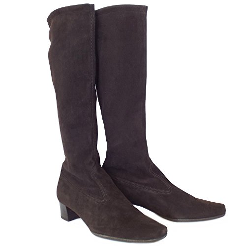 Peter Kaiser Aila Pull On Stretch Knee High Boots in Nuba Suede NUBA SUEDE BeOkR