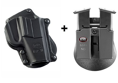 Fobus Pistol Case Paddle Holster + 6911ND Double Magazine Pouch for Kel-Tec P11 Ruger LC9, LC380, LC9s, LC9S Pro