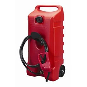 Scepter 06792 Flo N' Go Durmax Fuel Container, Wheeled, Red, 14-Gallon by Scepter