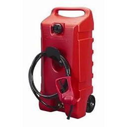 DuraMax Flo n\' Go LE Fluid Transfer Pump and 14-Gallon Rolling Gas Can
