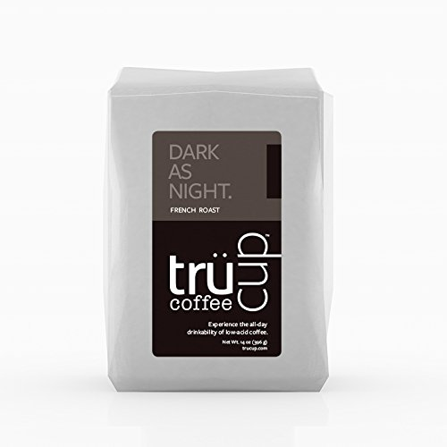 trücup Low Acid Coffee, French Press Grind, Dark as Night French Roast, 2 Pound by trücup coffee