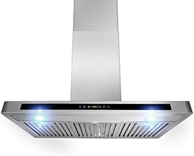 "GOLDEN VANTAGE New 36"" European Style Wall Mount Stainless Steel Range Hood Vent Touch Sensor Control GV-H503A-90"