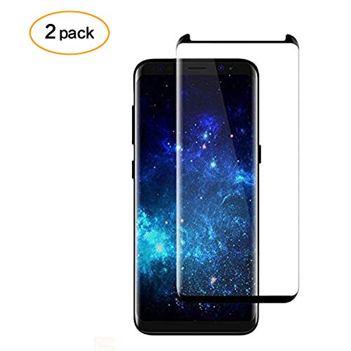 [2-Pack] Galaxy S8 Plus Screen Protector Glass, DeFitch 3D Curved [Tempered Glass] 9H Hardness Bubble-Free [Touch Sensitive] Screen Protector Compatible Galaxy S8 Plus S8+ [Case Friendly]