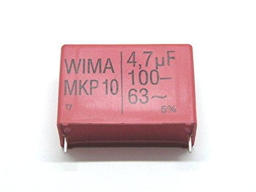 5pcs of WIMA Capacitors,MKP10,1.0uF/100V,5%,Pitch:22.5mm