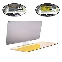 lebogner Auto Anti-Glare Day and Night Vision Sun Visor, Multifunctional 2 in 1 Car Sunshade & Night Vision Visor Extender, Windshield Driving Visor, Compatible with All Cars, SUVs, Trucks
