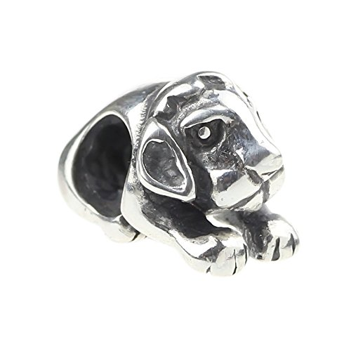 Beads Hunter Sterling Silver Sitting Dog Charm - Sitting Charm Dog