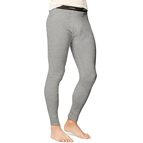 Thermal Pants (Hanes X-Temp Men`s Thermal Pant, 14520, S, Heather Grey)