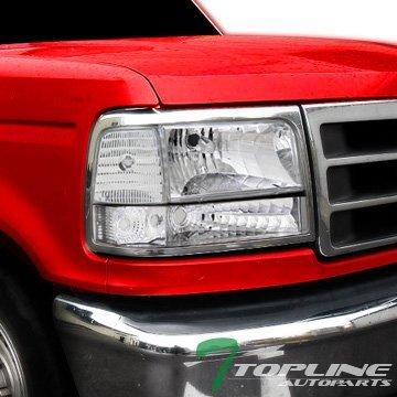 Topline Autopart Chrome Clear Turn Signal Blinkers Parking Corner Lights