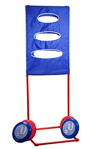 Sports Festival Outdoor Backyard Ultimate Disc Toss Target Lawn Game Like Frisbee Golf Comes With 4 Flying Discs and Carrying Case (Toss Target)