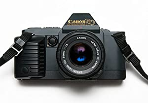 Canon T70 Film Camera With A Standard 50mm f/1.8 FD Lens
