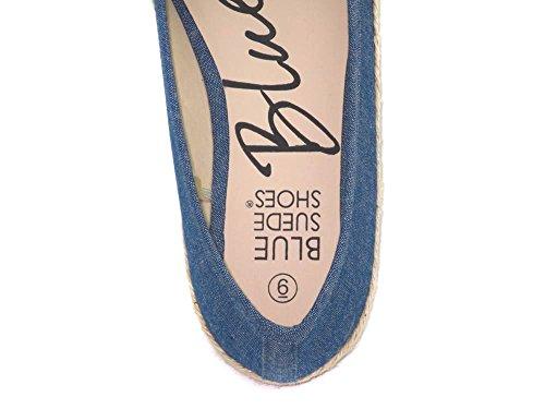 Tessuto Blu Biza Flat Donna In Grigio, Rosa E Blu (taglia 6,7,8,9,10) Blu