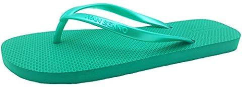 Finoceans Beach Slipper Women's Sandal Flip Flops Tong Green 8B(M) (Green Flip Flops)