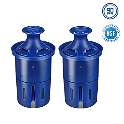 DASEA Water-Filter, Replacement Filters for Pitcher and Dispensers, Reduces Lead, BPA Free (2 Counts)