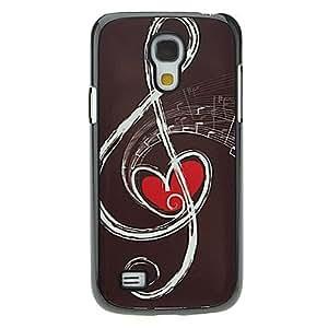 YULIN Musical Note Pattern Aluminum Hard Case for Samsung Galaxy S4 mini I9190