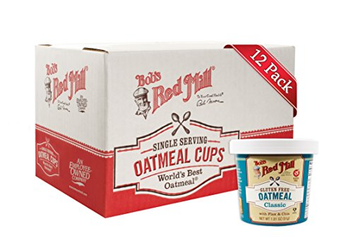 - Bob's Red Mill Gluten Free Oatmeal Classic Cup, 1.81 Oz (12 Pack)