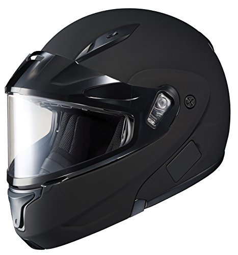 HJC CL-MAX2BTSN Modular Bluetooth Snow Helmet Framed Dual Lens Shield (Matte Black, (Hjc Double Lens Shield)