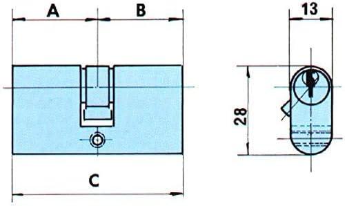 Lince 3017840 Cilindro Ovalado Niquelado 0603//54 mm