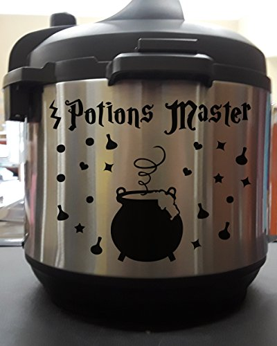 Potions Master Wizard Cauldron Black Vinyl Decal Sticker for Pressure Cooker ()