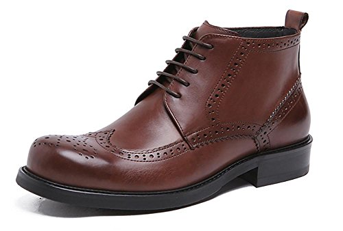 8b125f6d8a99 Men Bullock Leather Carved High Top Martin Boots Outdoor Leisure  high-quality
