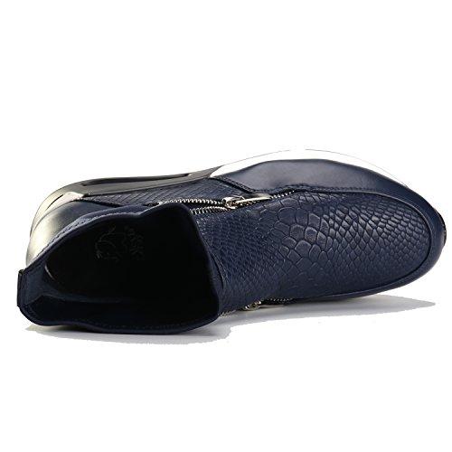 y de Leroy deporte elástico calcetín mujer en Alexis altas Zapatillas Azul con qZ8xxAgw