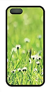 iPhone 5S Case, iPhone 5S Cases -Small daisy grass TPU Rubber Soft Case Back Cover for iPhone 5/5S ¨CBlack