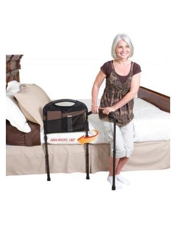 Stander 5850 Barra para transferencia de cama Mobility Rail con un apoyo de suelo