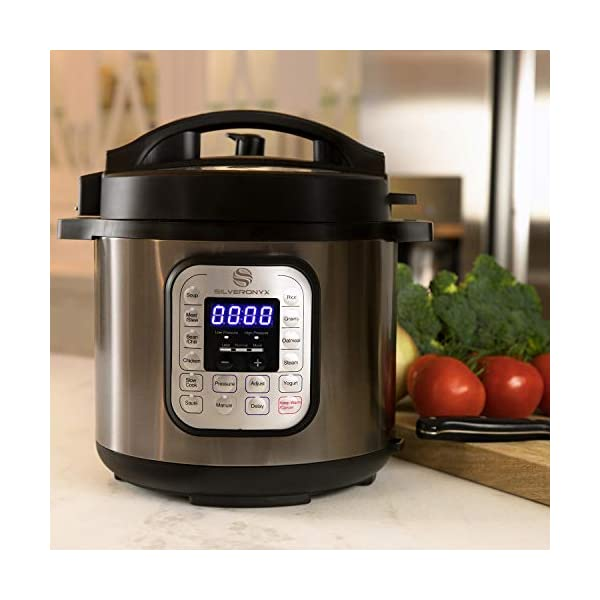 SilverOnyx 10-in-1 Programmable Pressure Cooker 6 Quarts with Stainless Steel Pot, Steamer & Warmer, Recipe Book… 7