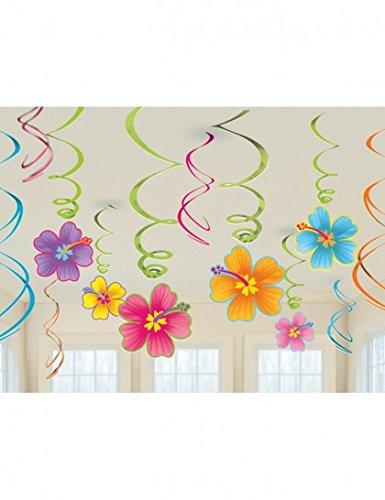 [Luau Swirl Hanging Decorations Value Pack (Each), Model:] (Luau Party Supplies)